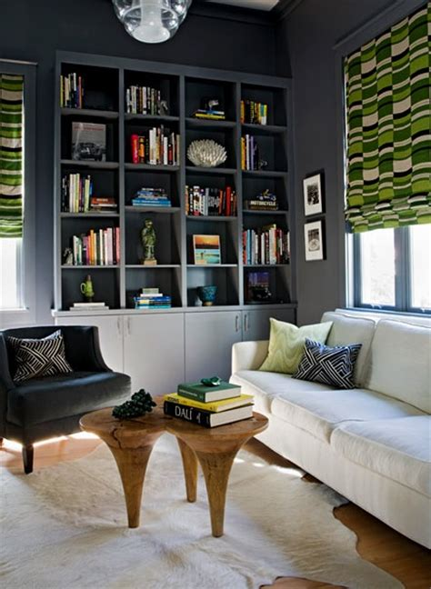 ikea billy bookcase white lime green colors combination in an eclectic family room minimalist blue built ins design ideas