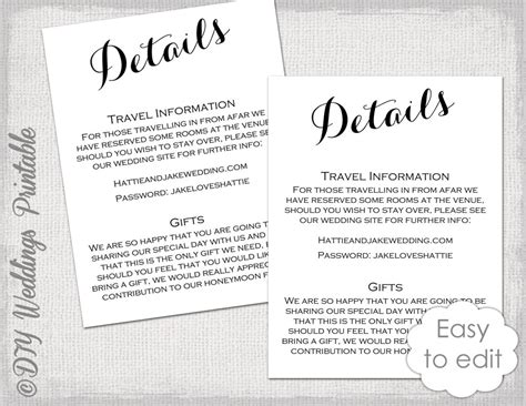 Wedding Enclosure Cards Free Template by Wedding Details Enclosure Template Diy Calligraphy