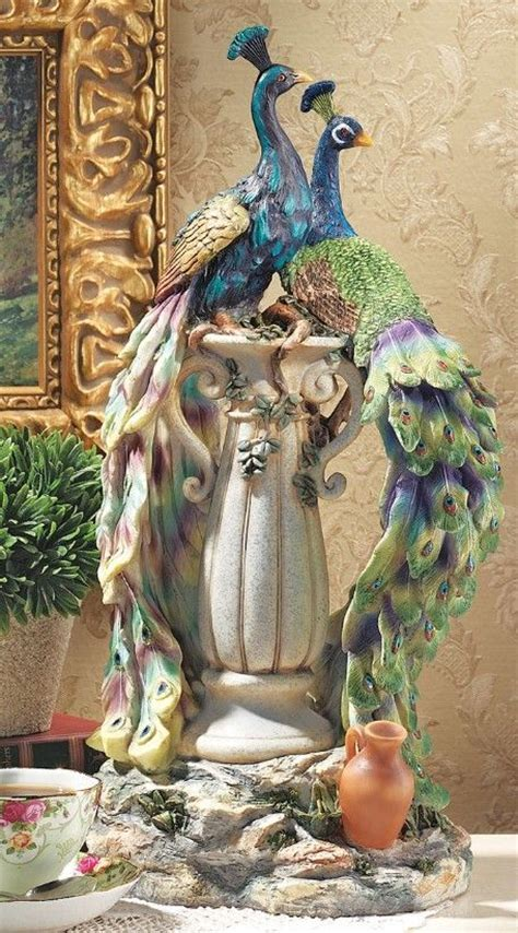 Peacocks in Paradise Statue   Beautiful, Design and Style
