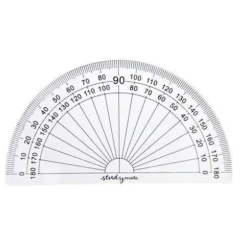 printable protractor small protractor 180 degrees images
