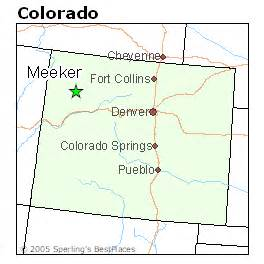 meeker colorado map best places to live in meeker colorado