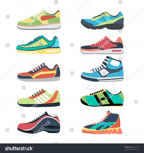 sport shoes vector sports shoes vector set fashion sportwear stock vector