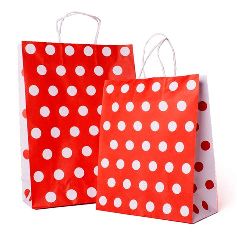 Happy Polka Dot Bag From Rimistyle by Polka Dot Carrier Bag And White Paper Bags Barry