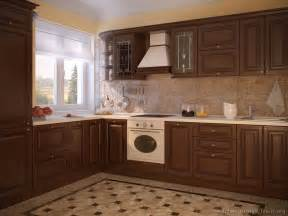 Walnut Color Kitchen Cabinets Pictures Of Kitchens Traditional Wood Kitchens Walnut Color Page 3