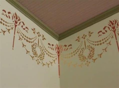 cenefas pintadas en la pared plantillas de cenefas para pintar paredes imagui