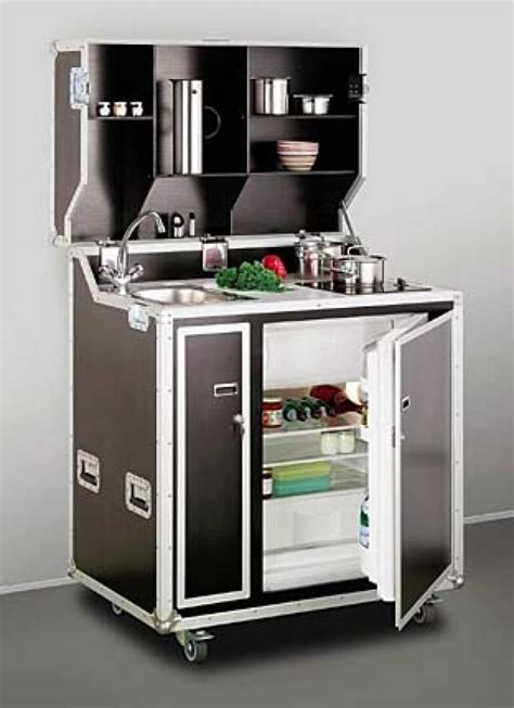 Mini Kitchen Fits Studio Or In Law Unit In Tiny Spaces Compact Kitchen Furniture