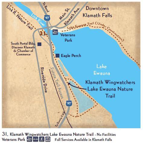 map of klamath oregon klamath wingwatchers lake ewauna nature trail klamath