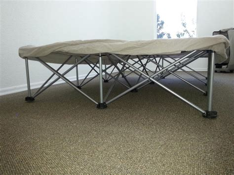 two spider bed frames both zepper top for foam air mattress outside