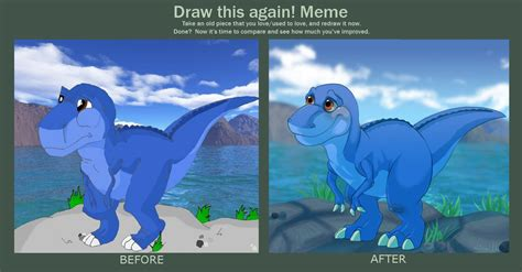 Land Before Time Meme - before and after meme chomper by shaiger on deviantart