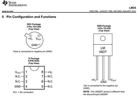transistor lm35 lm35dt datasheet lm35dt pdf pinouts circuit instruments