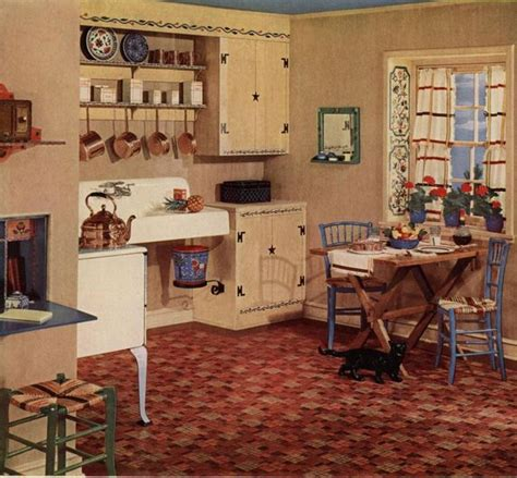 1920s Kitchen Design armstrong 5352 embossed inlaid linoleum the most popular
