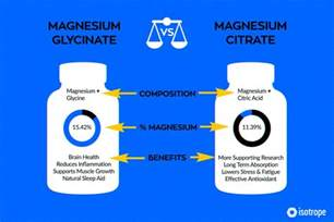Magnesium Citrate For Detox Of Toxins by Magnesium Glycinate Bioavailable Amino Acid Chelate