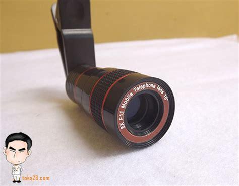 Lensa Hp Jepit lensa tele hp 8x zoom universal
