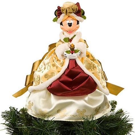 disney world minnie mouse victorian christmas tree topper