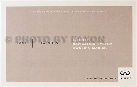 infiniti navigation system owners manual pdf download autos post 2003 infiniti fx4 and fx35 navigation system owners manual fx 35 45 nav guide ebay