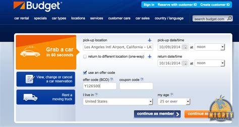 Budget Car Rental Under 25 Coupon