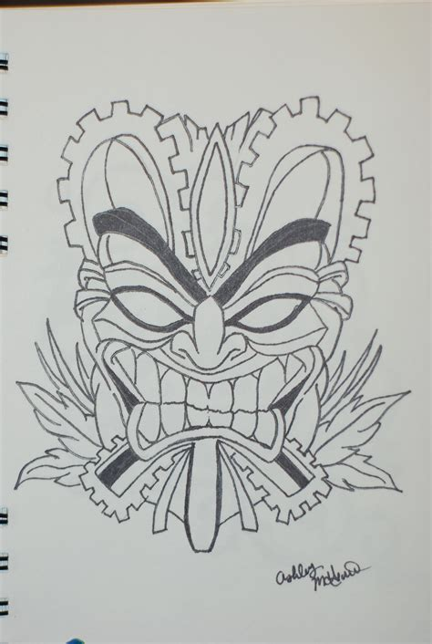 Tiki Hut Drawing How To Draw Tiki Mask