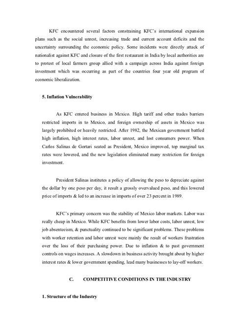 Kfc Study Essay by Kfc Study 1