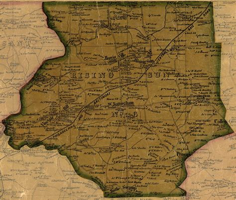 Cecil County Judiciary Search Simon J Martenet Map Of Cecil County 1858 District 6