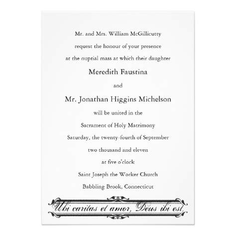 catholic wedding invitations dreaded catholic wedding invitation wording theruntime