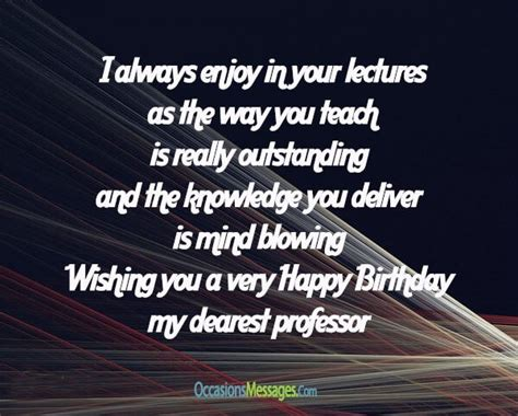 Happy Birthday Wishes To Professor Happy Birthday Wishes For Professors Occasions Messages