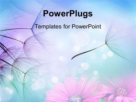 Beautiful Templates For Powerpoint powerpoint template up of dandelion seeds in flight