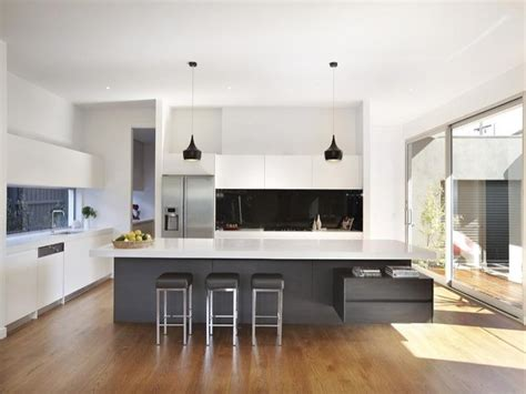 kitchen designes modern island kitchen design using floorboards kitchen