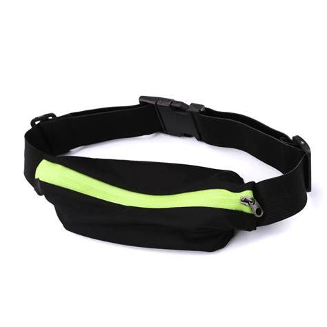Running Waist Belt Bag Tas Pinggang Sport unisex outdoor sports bum bag running belt waist pack travel zip pouch uk