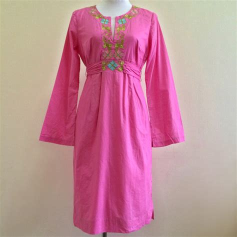 Novel Tunik Pink lilly pulitzer pink embroidered tunic dress on storenvy