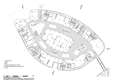 floor plan of a shopping mall gallery of aedas leaf shaped sales gallery nears