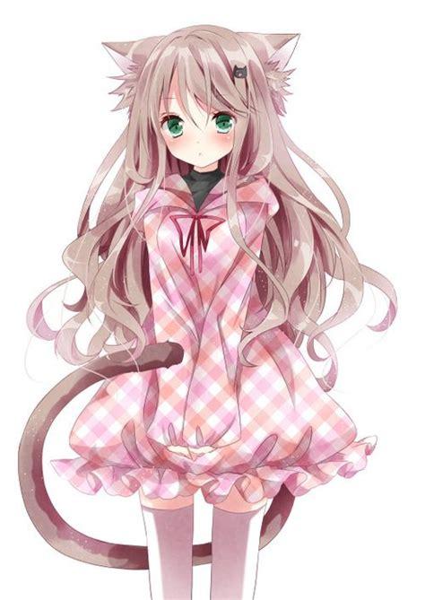anime neko girl cute anime girl with cat ears more fanart pinterest