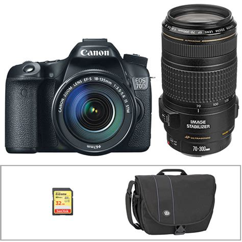 Canon Eos 70d Kit 18 135mm canon eos 70d dslr with 18 135mm and 70 300mm lenses kit