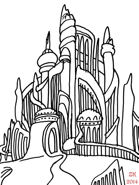Little Mermaid Castle Coloring Page | the little mermaid 50 day challenge week four the