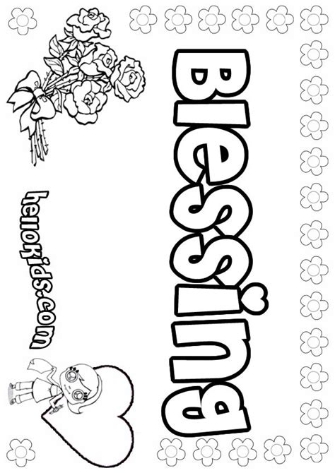 Blessing Coloring Pages Hellokids