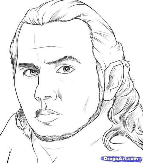 jeff hardy coloring page realistic jeff hardy sketch printable to color famous