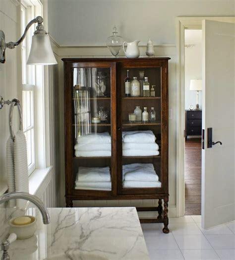Bathroom Armoires Furniture by Best 25 Linen Storage Ideas On Closet