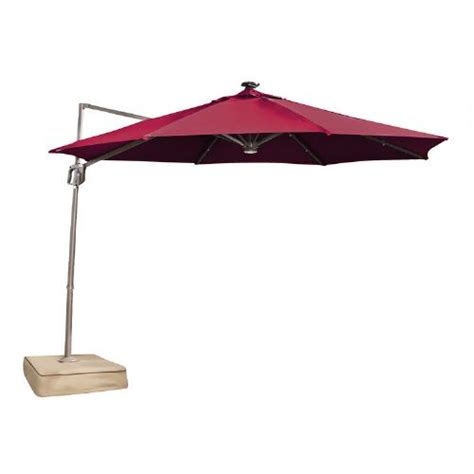 Patio Umbrellas With Solar Lights 10 Offset Solar Light Patio Umbrella Tree Shops Andthat