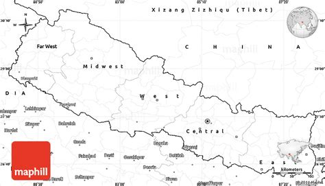 nepal map coloring page blank simple map of nepal