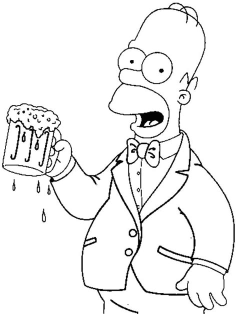 homer with a beer coloring pages best place to color