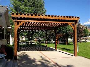 On The Patio 17 Early American Outdoor Shade Structures Pergolas