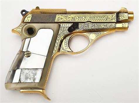 Gold Gun L by Beretta Gold Plated Engraved Model 70 Pistol