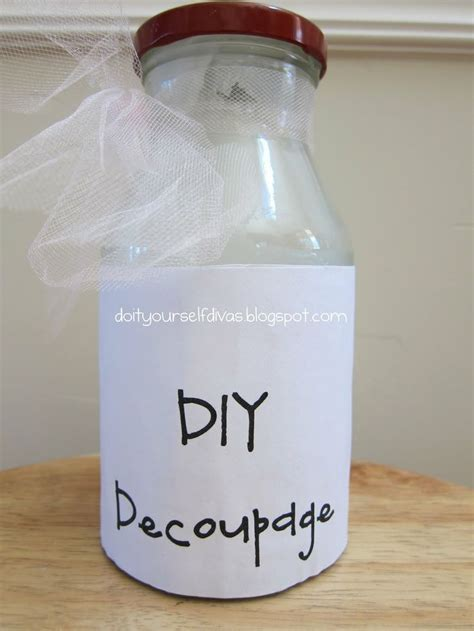 Make Your Own Decoupage Glue - diy mod podge a great way to save some money on your