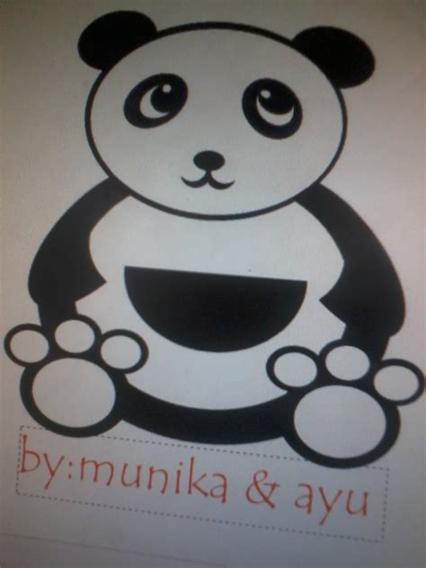 Boneka Panda Panda Hitam Putih Gigit Bambu pandaa