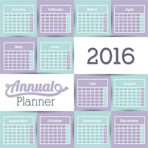 design calendar simple simple wall calendar 2016 design vectors set 08 vector