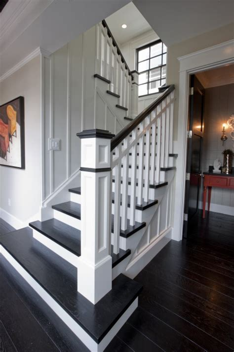 dark wood banister replace carpet with dark wood floors and paint railing