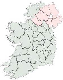 County Map Of Ireland Outline outline map of ireland with counties