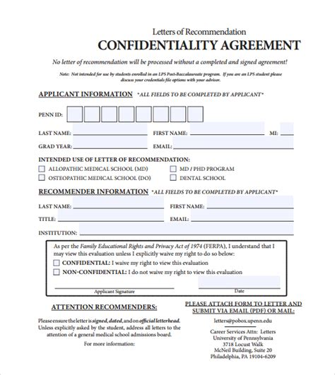 confidentiality template 7 free confidentiality agreement templates excel pdf formats