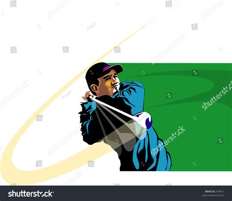 swing golf italiano golfer swing stock vector illustration 318911