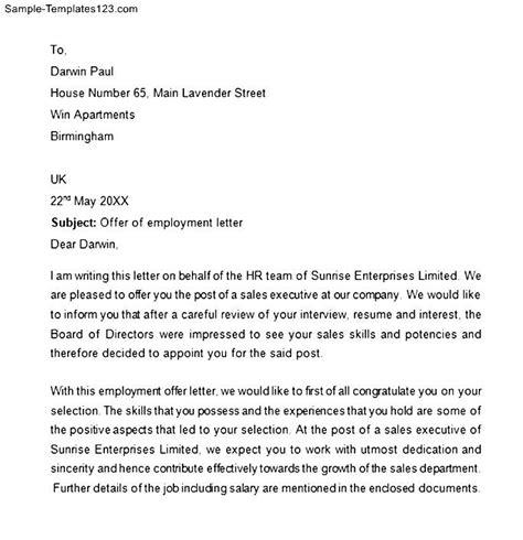 Offer Letter For Us Visa Image Gallery Self Employment Letter