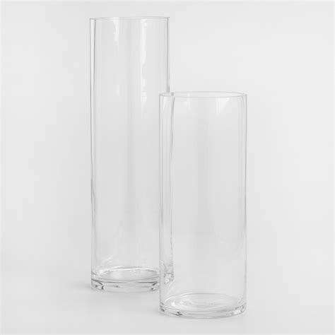 Cylinder Clear Glass Vases clear glass cylinder vases world market